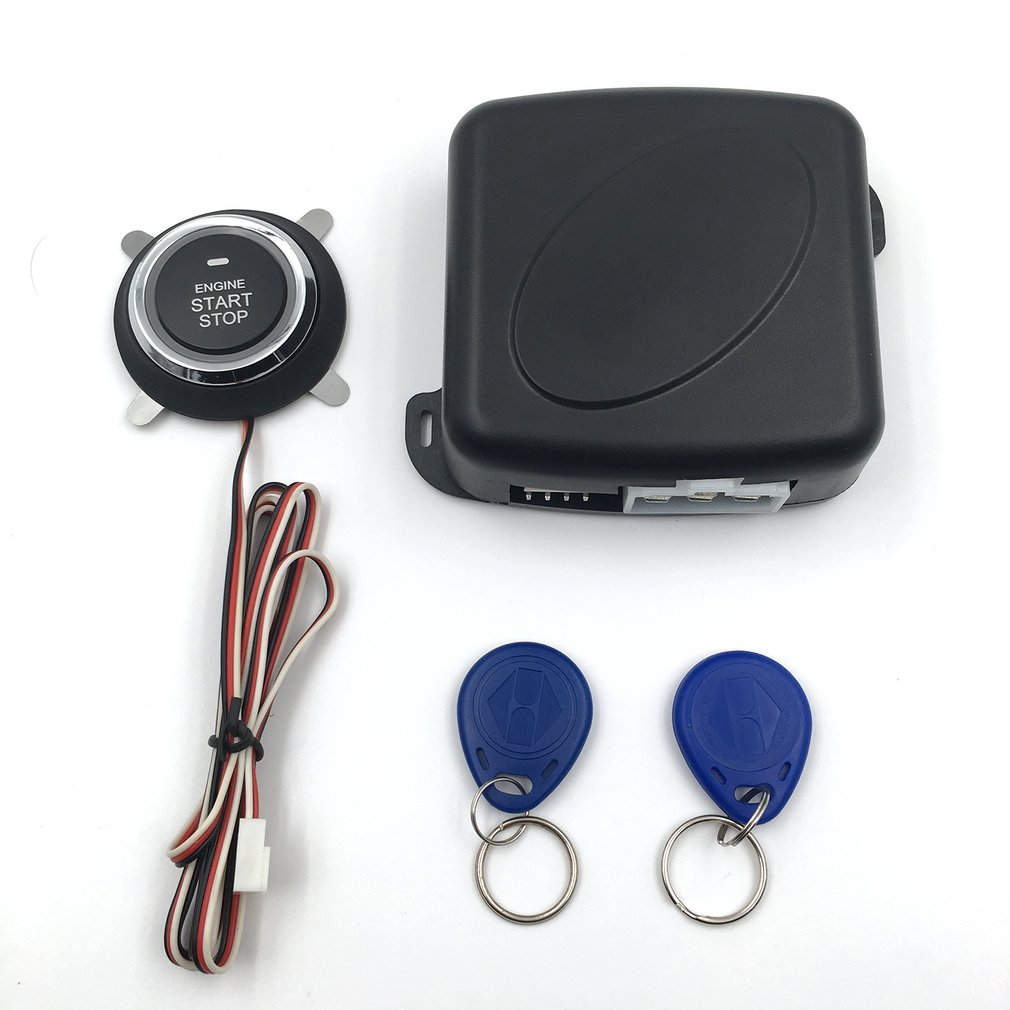 Auto Car Alarm Engine Push Button Start Stop Keyless Entry System Star..