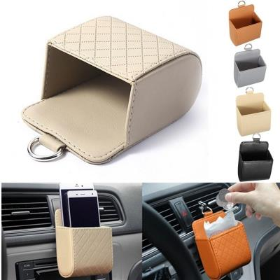 Auto Car Seat Pu Back Tidy Storage Coin Cell Phone Cradle Bag Case