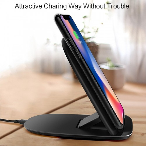 Auto Disconnect Wireless Charger 2 in 1 Fordable Iphone X Samsung