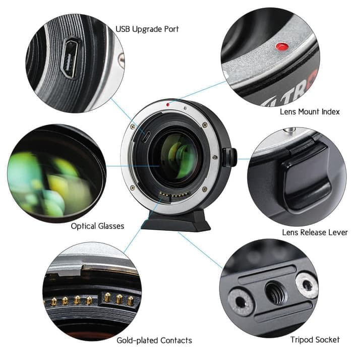 Auto Focus Ef-eos M Mount Lens Mount Adapter For Canon Ef Ef-s Lens To