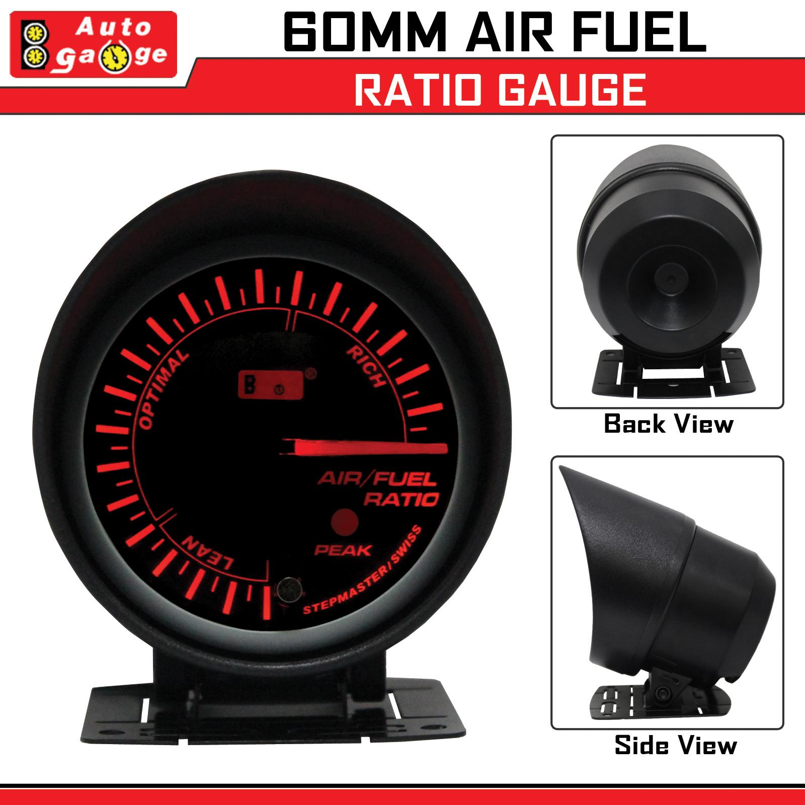 Auto Gauge Stepper Motor Smoke Face 60mm Air Fuel Ratio