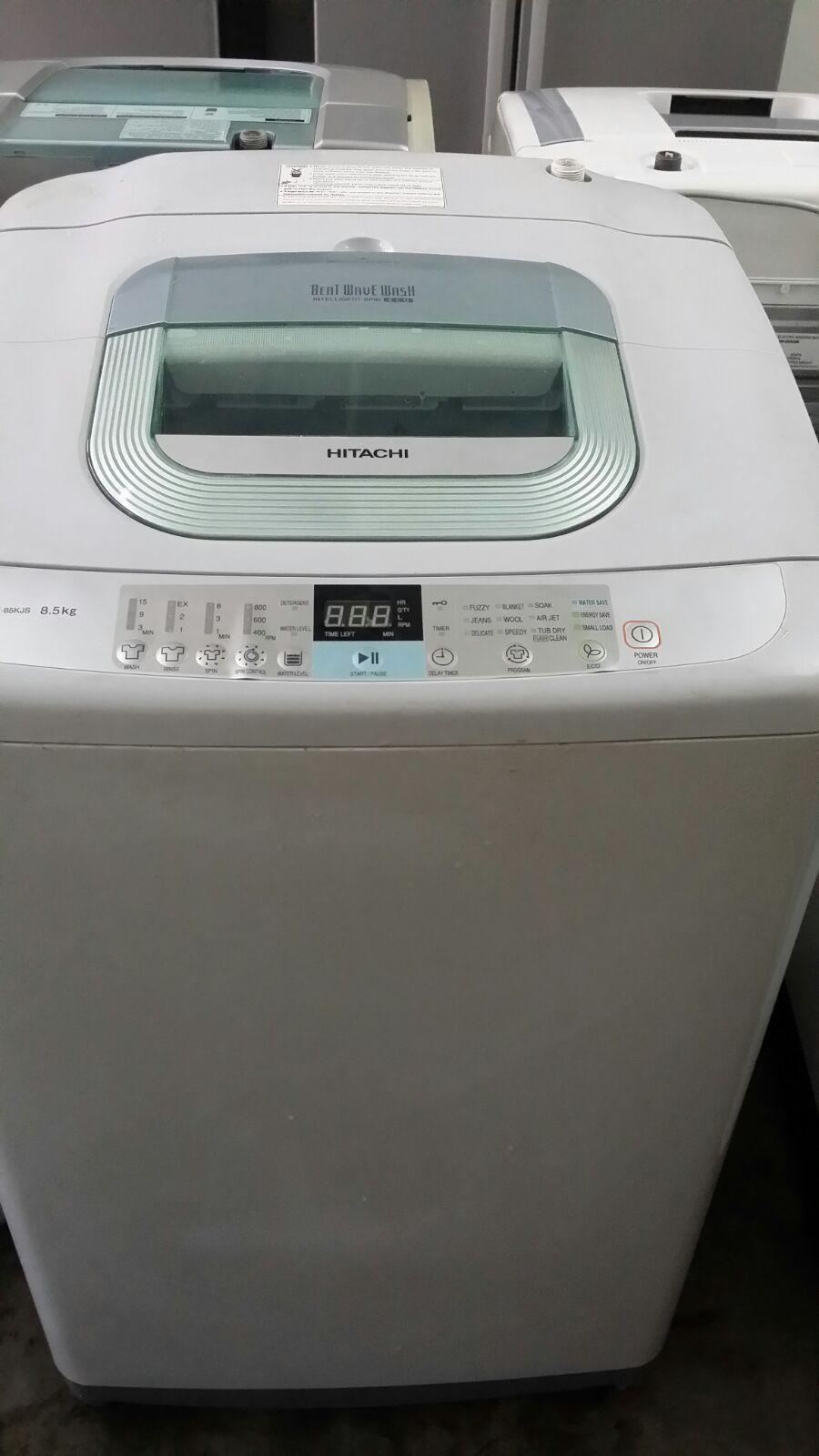 hitachi washing machine. auto hitachi 8.5kg washing machine mesin basuh top load refurbish