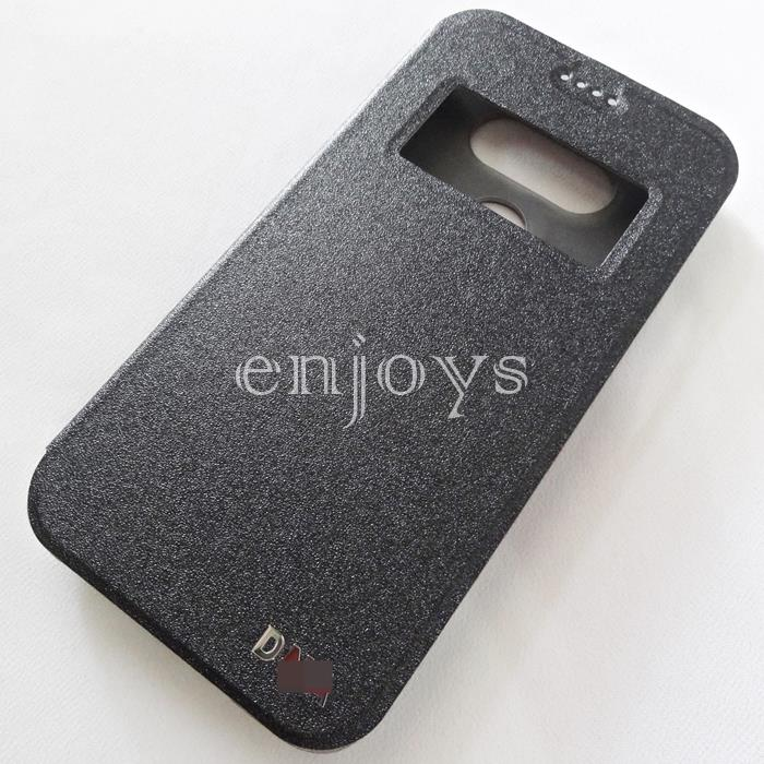 Auto Wake BLACK S View Flip Soft Case Cover for LG G5 / H860 ~5.3'