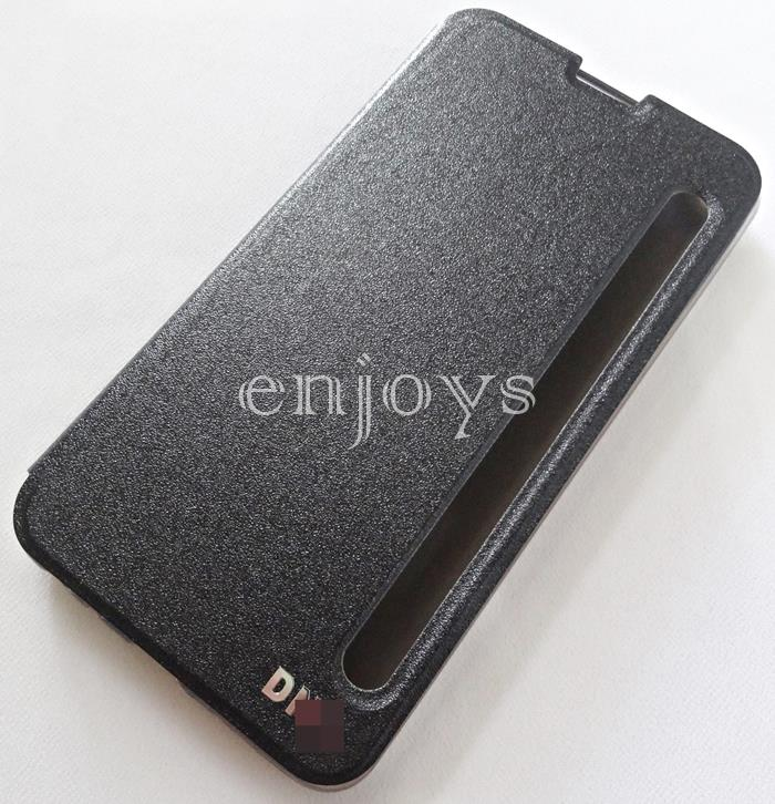 Auto Wake BLACK S View Flip Soft Case Cover for LG Stylus 2 Plus ~5.7'