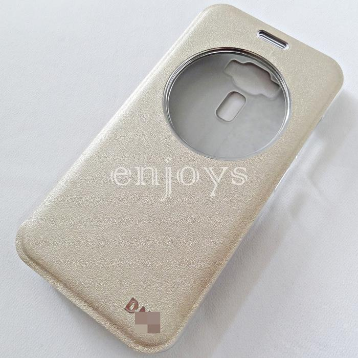 Auto Wake GOLD S View Soft Case Cover Asus Zenfone 3 / ZE552KL ~5.5""