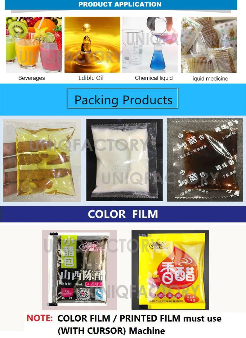 Automatic Liquid Filling Packaging Sachet Bag Auto Sealing Machine