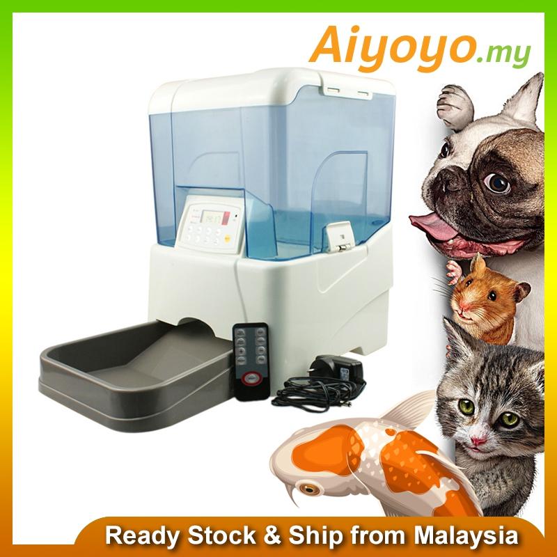 dog automatic feeder pet online storage food dispenser bowl rabbit cat f