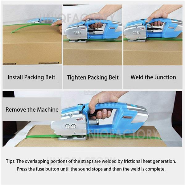 Automatic Portable Electric Rechargeable Strapping Packing Machine
