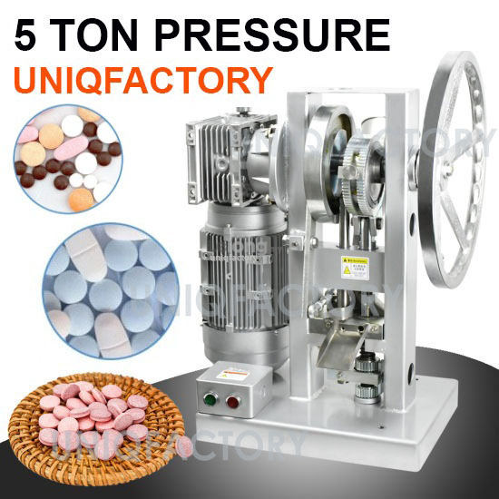 Automatic Single Punch Tablet Pressing Machine Powder Milk Candy Pill