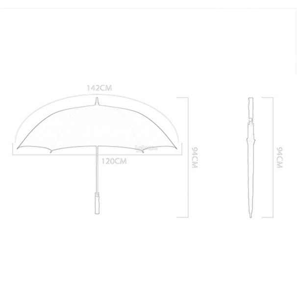 Automatic Super Large Umbrella Long Straight Handled Strong Windproof