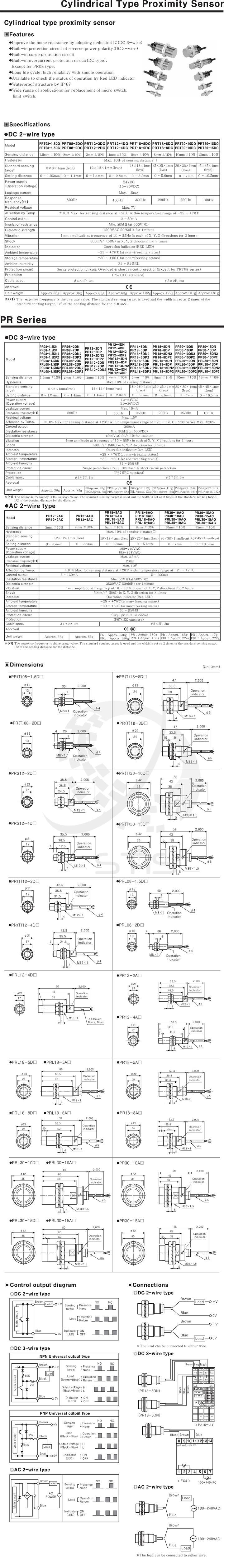 Autonics Inductive Proximity Sensor End 11 7 2016 415 Pm 3 Wire Wiring Diagram Pr30 15dn