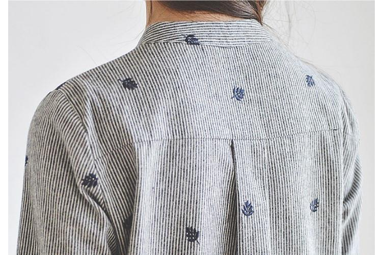 Autumn Leaves Embroidery Long Sleeve