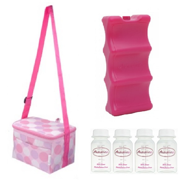 Autumnz Package Fun Foldaway Cooler Bag - Pink Polka