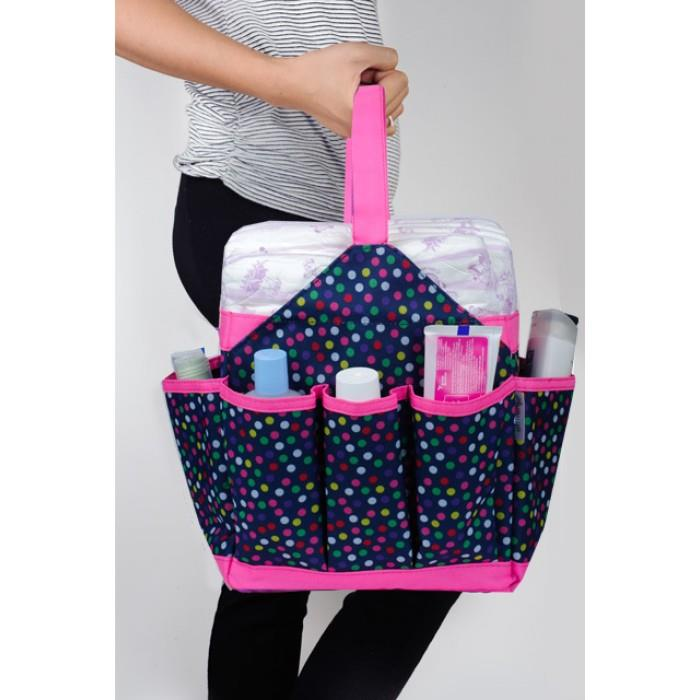 Autumnz Portable Baby Diaper Caddy (Candy Drops)