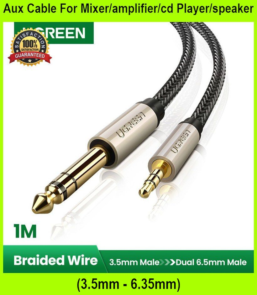 Aux Cable For Mixer/amplifier/cd Player/speaker (3.5mm - 6.35mm - [1M]