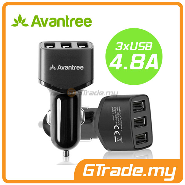 AVANTREE 3 USB Car Charger 4.8A Apple iPhone 6S 6 Plus SE 5S 5C 5 4S 4