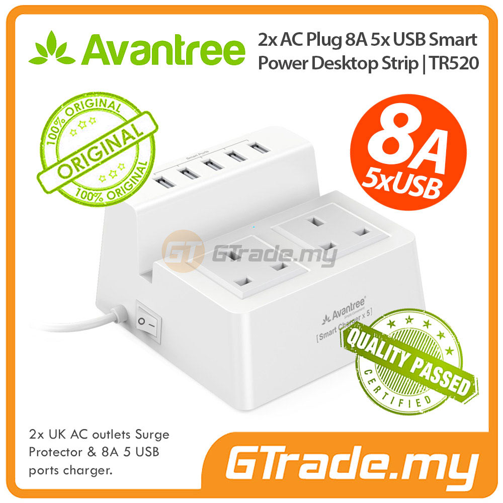 AVANTREE 5 USB Charger 8A Extension Wire Plug Sony Xperia Z5 Premium