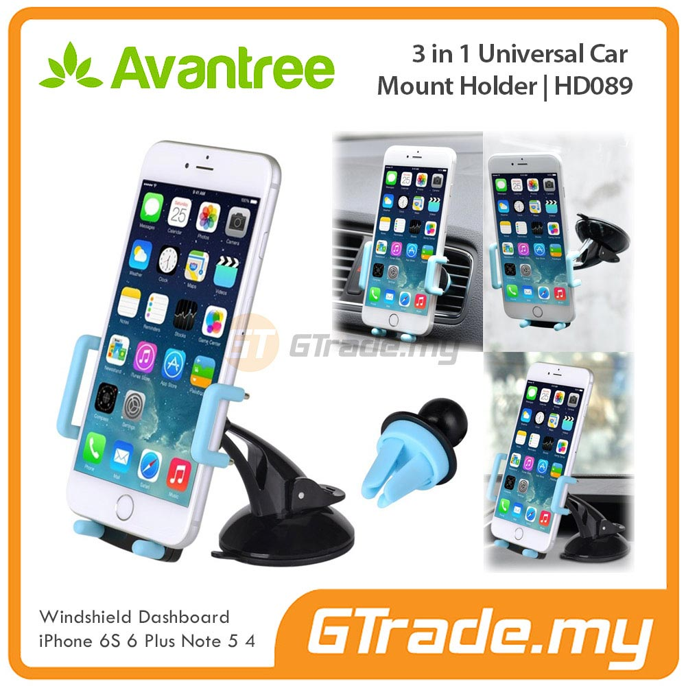 AVANTREE Car Phone Holder 3 in 1 BL Sony Xperia Z5 Premium Z3 Z2 Z1