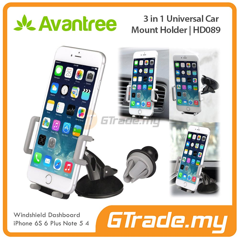 AVANTREE Car Phone Holder 3 in 1 GY Apple iPhone 7 7S Plus