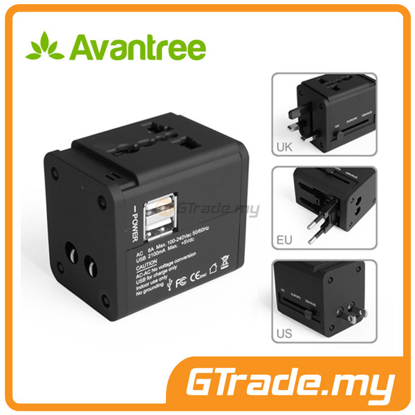 AVANTREE Universal Adapter Plug USB Charger Samsung Galaxy S7 S6 Edge