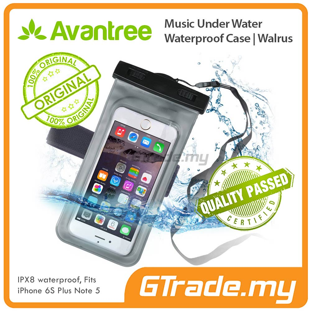 AVANTREE Waterproof Bag Case Earphone Jack Apple iPhone 6S 6 Plus