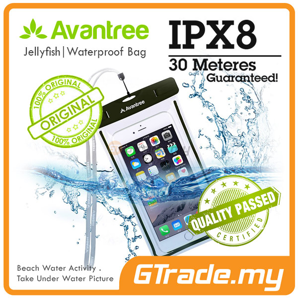 AVANTREE Waterproof Bag Case Universal BK Sony Xperia Z5 Premium Z3 Z2