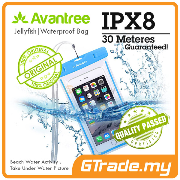 AVANTREE Waterproof Bag Case Universal BL Samsung Galaxy Note 5 4 3 2