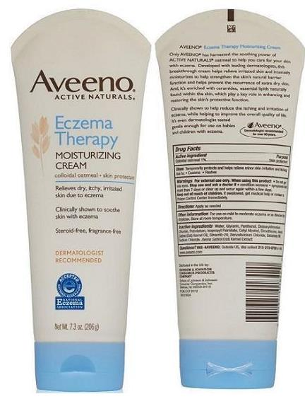 Aveeno, Eczema Therapy, Moisturizing Cream (206g)