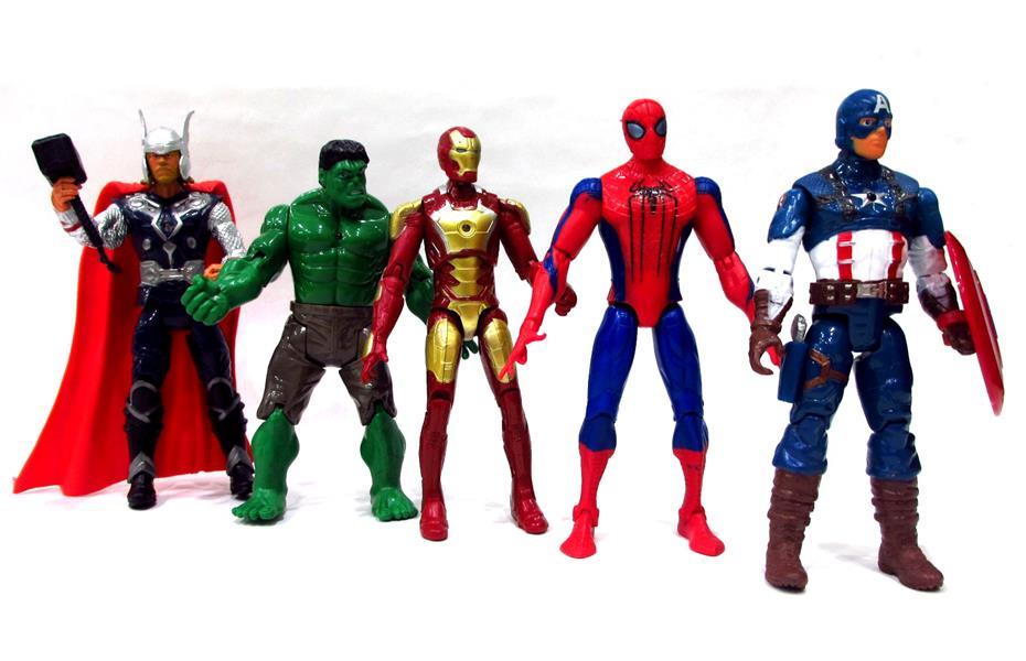Avenger Action Ficgures - Iron man, Thor, Hulk, Spiderman, Captain Ame