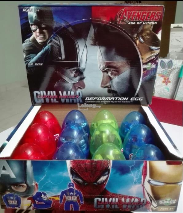 AVENGERS DEFORMATION SURPRISE EGGS SET (4 In 1)