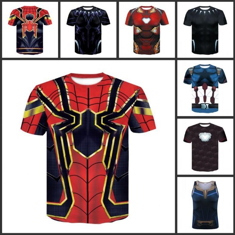 be40ab54466 Avengers Infinity War (2018) Iron Man Captain America men 3d t-shirt. ‹ ›