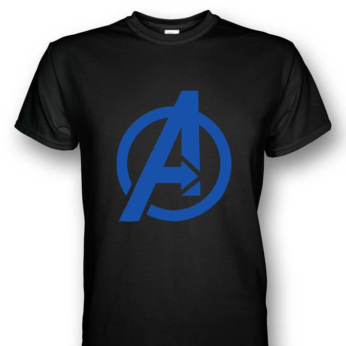 Avengers Logo Black T-shirt Blue Pri (end 4/18/2015 2:30 PM)