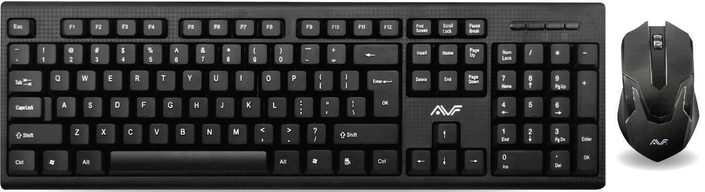 AVF AKM2020U Wired Keyboard & Mouse Combo USB - Black AKM2020U