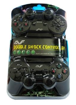 AVF Double Shock Joystick Gamepad USB - Twin Pack (stk- 8032)