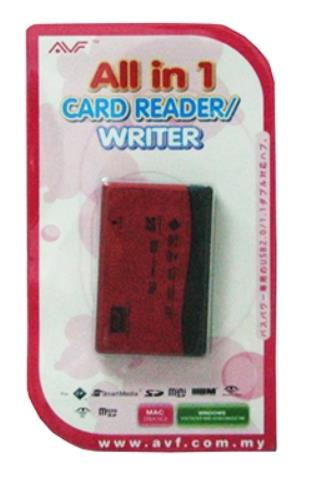 AVF EXTERNAL USB2.0 ALL IN ONE CARD READER (ACR703)