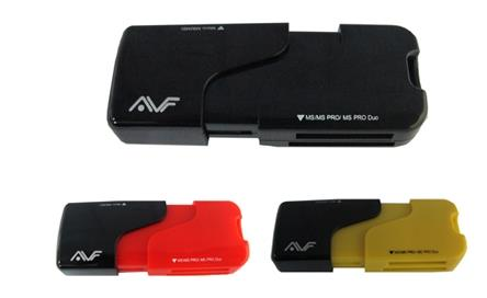 AVF All-in-One Card Reader USB2.0 - Yellow/ Red/ Black ACR718