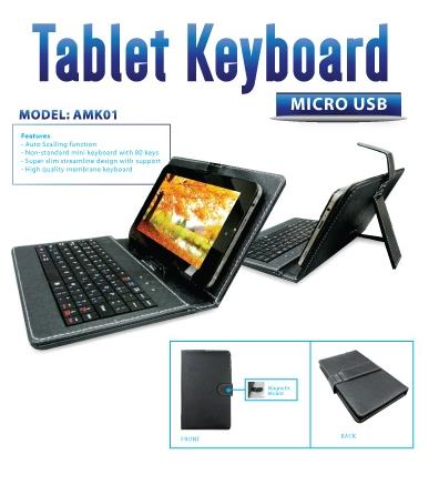 AVF Tablet Keyboard (Micro USB) - Black AMK01