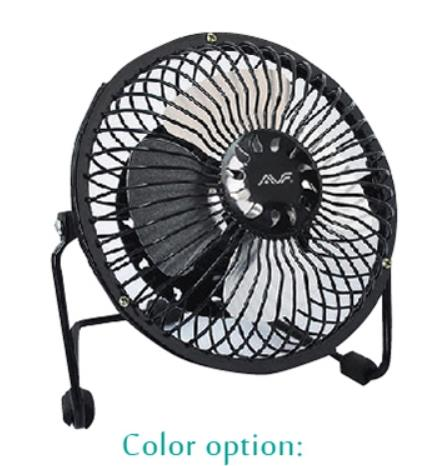AVF Ultra-quiet 6' inch USB Mini Fan - Black (AUSBF05-BK)
