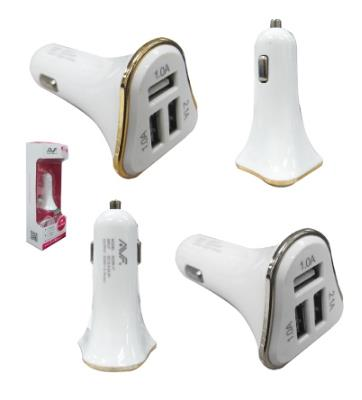 AVF USB2.0 3-Port USB In-Car Charger (Max 2.1A) ACHR17