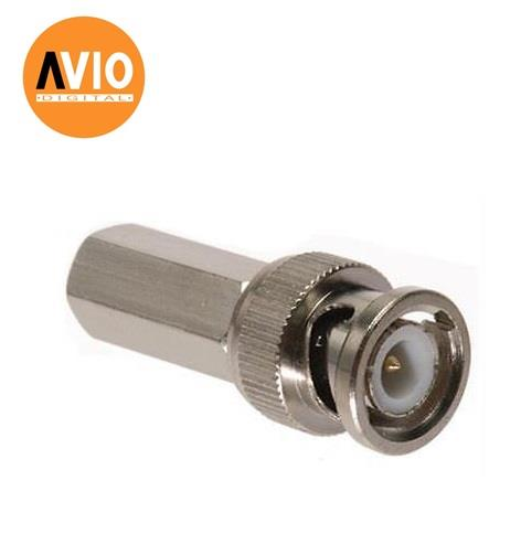 AVIO BNC-TO59 Taiwan High Quality RG59 BNC Connector Male Twist - On T