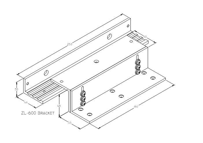 AVIO DBR004 ZL - 600 - Door Access Bracket In Swing Door Application