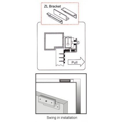 AVIO DBR004 ZL - 600 - Door Access Bracket In Swing Door Application