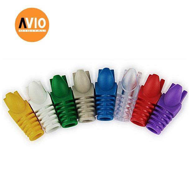 AVIO RBC5-BLU Coloured Rubber Boots for Cat5e (10 Pcs)
