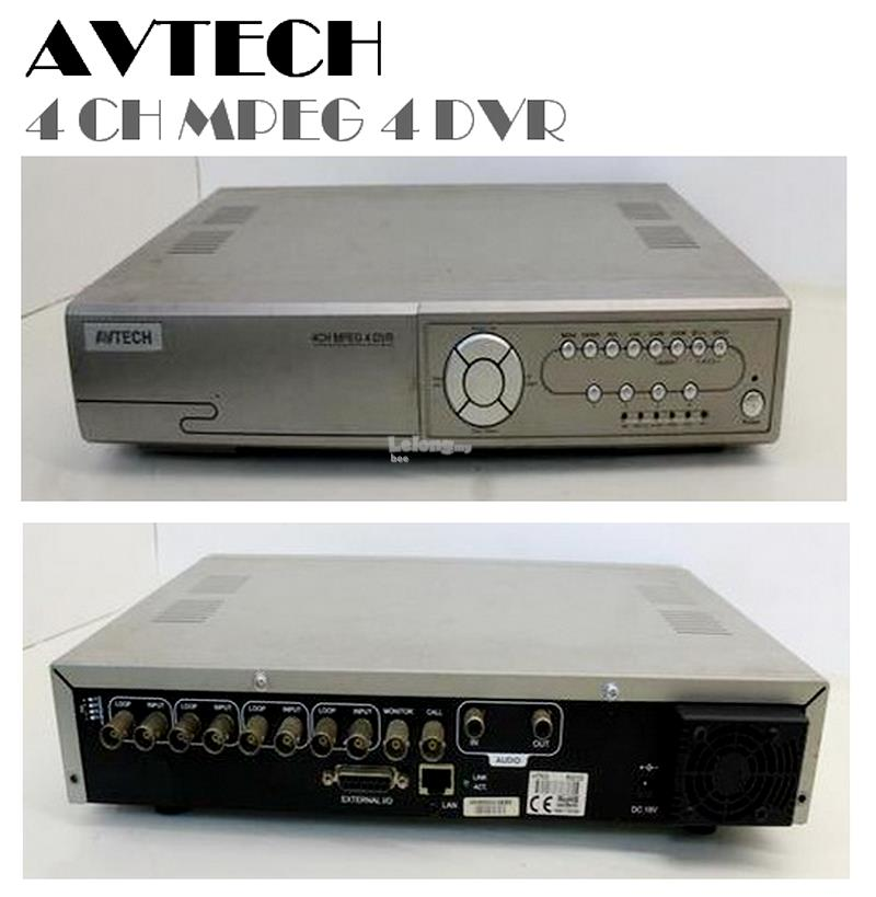 avtech 4 channel mpeg 4 dvr cctv ne end 9 11 2018 10 56 pm rh lelong com my avtech 4 channel dvr software download avtech 4 channel dvr default password