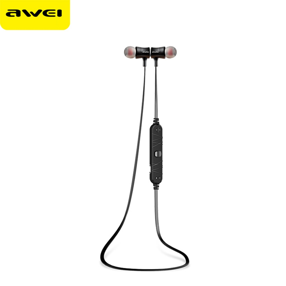 AWEI A921BL BLUETOOTH SPORT EARBUDS WITH MIC ON-CORD CONTROL NOISE CAN..