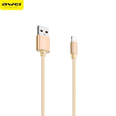 Awei CL - 988 2A Mini Nylon Braided Transfer Data Charging Cord 0.3m