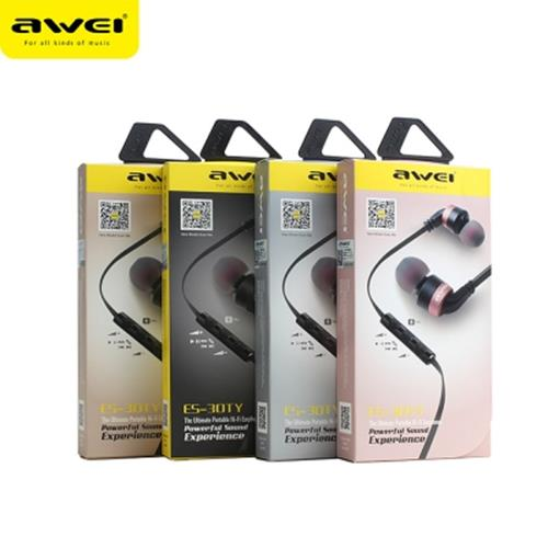 AWEI ES - 30TY MIC CONTROL WIRED STEREO IN-EAR HIFI MUSIC EARPHONES HEADPHONES