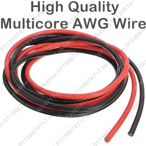 AWG8 Electric Silicone Flexible Multicore Wire Cable AWG 8 Black Red