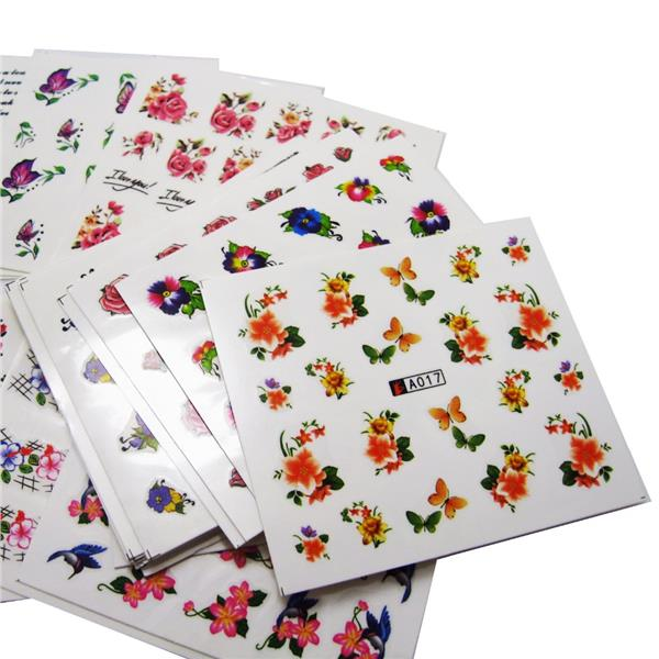 B) Fancy Nail Art Stickers 50 sheets /lot (Different Designs)