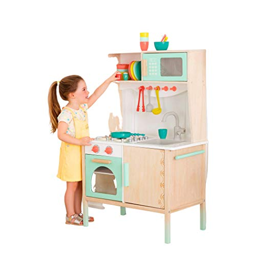 B. Toys- Mini Chef Kitchenette- Wooden Play Kitchen - Pretend Play and Imagina